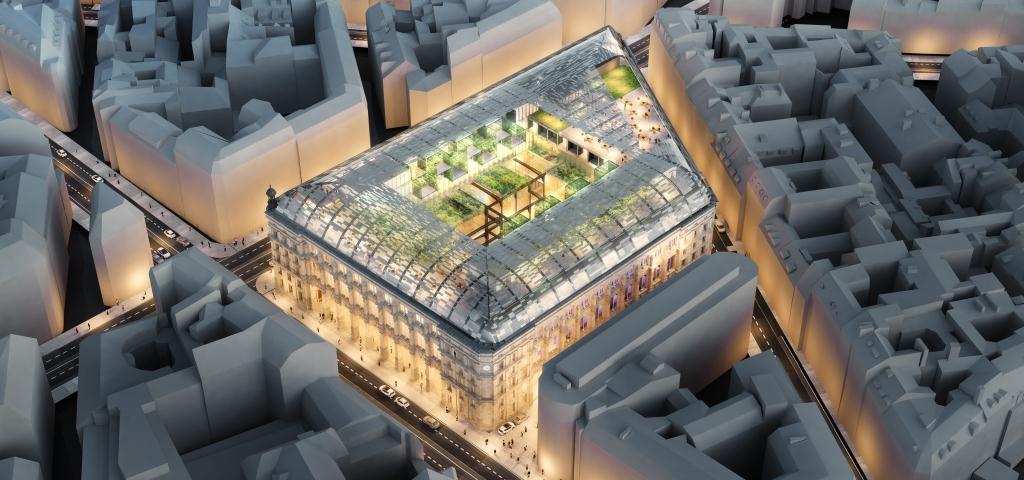 la poste du louvre la restructuration d un il t industriel parisien par une fonci re d. Black Bedroom Furniture Sets. Home Design Ideas